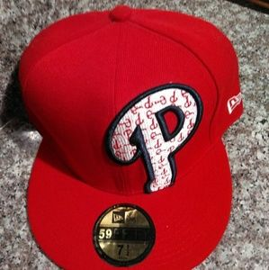 NWT New Era 59/50 Phillies fitted sz 7 1/2